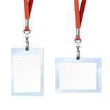 Blank badge. For id card Stock Photography