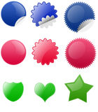 Blank Badge Button Royalty Free Stock Images