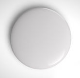 Blank Badge Button. On white background. Clipping path included for easy object selection Royalty Free Stock Photo