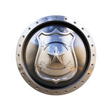 Blank badge 3d isolated illustration Royalty Free Stock Photography