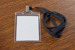 Blank badge with neckband Royalty Free Stock Images
