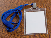 Blank badge with neckband Royalty Free Stock Photography