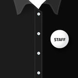 Blank badge for put staff identification Royalty Free Stock Photos