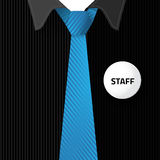 Blank badge for put staff identification Stock Photography