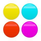 Blank badge template illustration. Vector blank badge template illustration in four colors Stock Photos