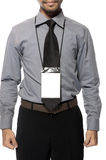 Blank Badge On Torso Stock Image