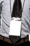 Blank Badge On Torso. Blank badge hanging on business man torso Stock Photos