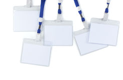 Blank badges. Several blank badges isolated on a white background Stock Images