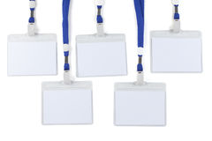 Blank badges. Several blank badges isolated on a white background Royalty Free Stock Image