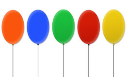 Blank balloons Royalty Free Stock Photo