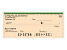 Blank Bank Cheque vector illustration