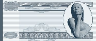 Blank banknote Stock Photo