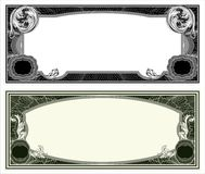 Blank banknote layout Royalty Free Stock Images