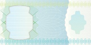 Blank banknote layout. A blank form to create a banknote of whatever denomination Stock Photo