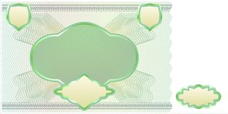 Blank banknote layout. A blank form to create a banknote of whatever denomination Royalty Free Stock Photo