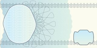 Blank banknote layout Stock Photography