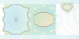 Blank banknote layout. A blank form to create a banknote of whatever denomination Stock Photos