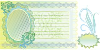 Blank banknote layout Royalty Free Stock Image