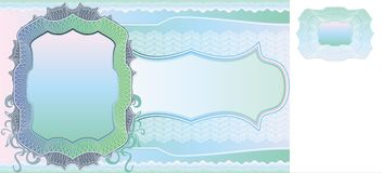 Blank banknote layout Stock Image