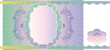 Blank banknote layout Royalty Free Stock Photos