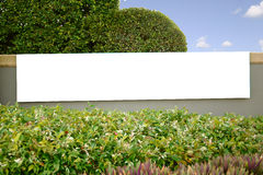 Blank banner. A sign suitable for advertising a new suburb or a business enterprise Stock Photo