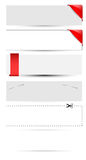 Blank Banner and Boxes Vectors Stock Images