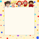 Blank banner with children Royalty Free Stock Image