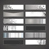 12 Blank Banner Designs. Set of Twelve Black and White Abstract Header or Banner Designs in Freely Scalable & Editable Vector Format vector illustration
