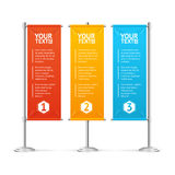 Blank Banner Flags Colorful Set With Text. Vector Royalty Free Stock Photography