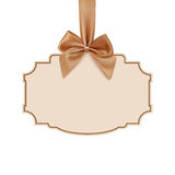 Blank banner with golden ribbon Stock Photography