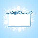 Blank banner with ribbon Royalty Free Stock Photo