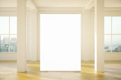 Blank banner in room Stock Photography