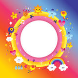 Blank banner round frame Royalty Free Stock Photos