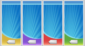 Blank Banner Set Royalty Free Stock Photos