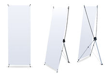 Blank banner X-Stands Stock Photo