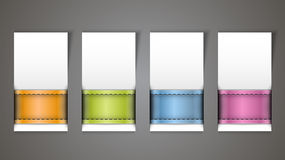 Blank banners Stock Images
