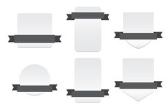Blank Banners with Ribbon - Isolated Vector Illustartion Royalty Free Stock Photography