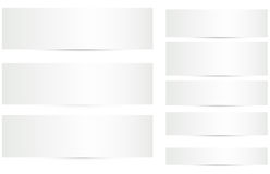 Blank Banners with Shadows Vectors Set Stock Image
