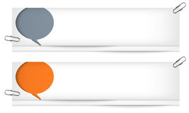 Blank banners with speech bubbles Stock Image