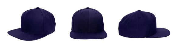 Blank baseball snap back cap color navy royalty free stock images