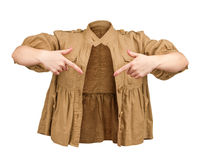 Blank beige jacket Stock Photo