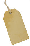 Blank Beige Vintage Cardboard Sale Tag, Empty Grunge Price Label Pricetag Badge, Isolated Grungy Macro Closeup Vertical Copy Space Royalty Free Stock Photography