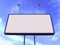 Blank big billboard Stock Photos