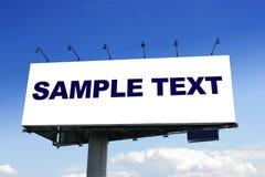 Blank big billboard Royalty Free Stock Image
