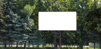 Blank big billboard Stock Images