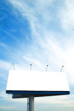 Blank big billboard. Over blue sky stock photos