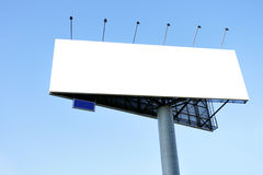 Blank big billboard Stock Photography