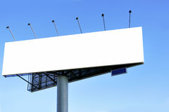 Blank big billboard Royalty Free Stock Photo