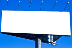 Blank big billboard over blue sky Stock Image