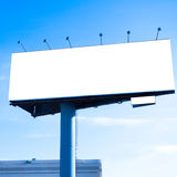 Blank big billboard over blue sky Royalty Free Stock Image